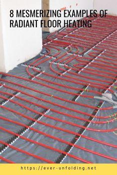 8 Mesmerizing Examples Of radiant floor heating Radient Floor Heating, Hydronic Radiant Floor Heating, Radiant Heating System, Metal Building Homes, Building A Shed, Floor Heater, Radiant Heaters, Smart Home Design, Heating And Plumbing