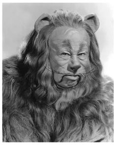 Classic Hollywood Actor Bert Lahr as Cowardly Lion in Wizard of Oz