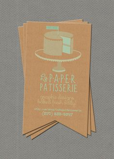 Flag Cut, Kraft Paper Business Card.  Unique portrait orientation & eye-catching!