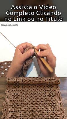 Free Crochet Doily Patterns, Easy Crochet Stitches, Crochet Stitches For Beginners, Crochet Videos, Filet Crochet, Crochet Doilies, Crochet Table Runner, Crochet Decoration, Crochet Handbags