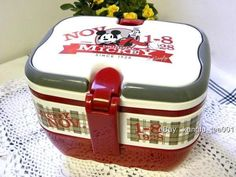2Tier Disney Mickey Mouse Bento Lunch Box w Handle