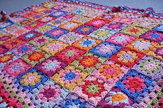 Just as soon as I finish Eric's afghan, I am going to start on a colorful, granny square afghan like this, for me :)! It will be the first time I get to crochet something for myself!