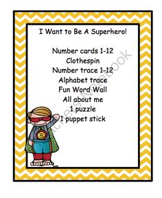 I Want to Be A Superhero from Fun Printables for Preschoolers on TeachersNotebook.com -  (12 pages)