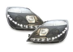 Ford Fiesta MK6 2002-2008 Black DRL Devil Eye Audi R8 Projector Headlights Comes with Headlight Bulbs