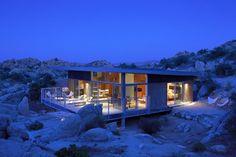 Evening, Rock Reach House, Mojave Desert, California, USA