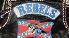 Rebels bikie vest.