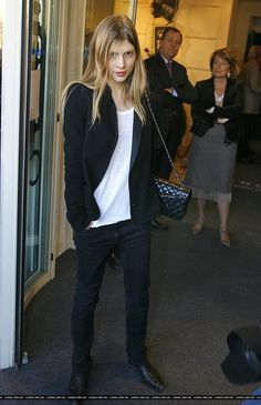 Clemence Poesy Chanel bag