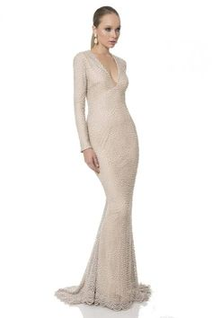 98017b66a46 Buy the Plunging V-Neck Embellished Mermaid Gown 1611M0629A by Terani  Couture at CoutureCandy.