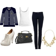 i like everything but the shoes, necklace and bag XD