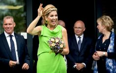 Queen Maxima of The Netherlands attends the official opening of the new nursing center 's Hamrik in Nieuwolda, The Netherlands on July 7, 2015.