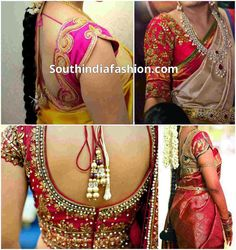 Blouse Designs for Wedding Sarees ~ Celebrity Sarees, Designer Sarees, Bridal Sarees, Latest Blouse Designs 2014