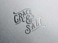 Logo designed for the husband and wife team that make up Grace & Salt. They are woodworkers, photographers, bloggers, and orphan advocates.