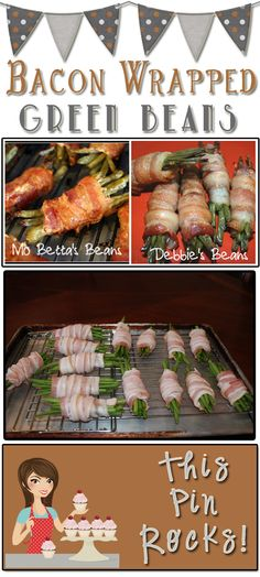 Bacon Wrapped Green Beans  #Vegetable #Bacon. Everything is better with bacon!