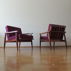 Pair of lounge chairs, re-upholstered in velvet.