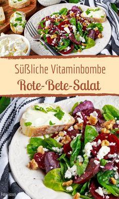Rote-Bete-Salat mit Feta und Walnüssen - Rote-Bete-Salat mit Feta und Walnüssen Imágenes efectivas que le proporcionamos sobre recette de s - Chicken Recipes For Kids, Healthy Pasta Recipes, Clean Recipes, Salad Recipes, Beet Salad With Feta, Feta Salat, Mango Salat, Couscous Salat, Meatloaf Recipes