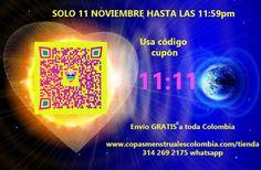 solo por el 11 noviembre 201 portal 11:11 envio gratis en toda Colombia