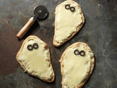 Use prepared pizza dough to make these easy, Individual Spooky White Pizzas.