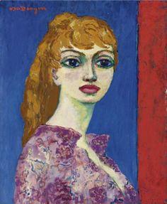 Kees van Dongen - Portrait d'une Femme (Brigitte Bardot), nd. André Derain, Georges Braque, Henri Matisse, Brigitte Bardot, Monte Carlo, Figure Painting, Painting & Drawing, Maurice De Vlaminck, Raoul Dufy