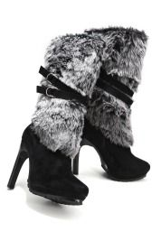 Boston ProperChic Faux Fur Boot ~ A Great Boot for Winter, especially in Idaho