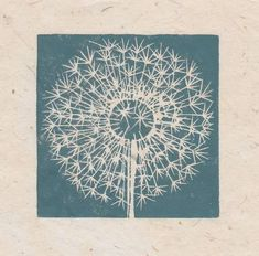 Dandilion seed head mini print: Striped Pebble, linocuts, drawings and paintings to buy online Linocut Prints, Art Prints, Block Prints, Linoleum Block Printing, Linoprint, Sgraffito, Tampons, Art Design, Gravure