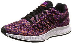 Nike Womens Air Zoom Pegasus 32 Print  VIVID PURPLEBLACKHYPR ORANGE  7 * Read more reviews of the product by visiting the link on the image.(This is an Amazon affiliate link and I receive a commission for the sales)