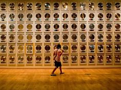 A wall of gold records dazzles visitors to Nashville's Country Music Hall of Fame.  [Photo by Will Van Overbeek, National Geographic]