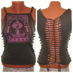 Cut Up Shirt  Cut Tshirt Tank Top  Upcycled  by SimpleWisdom, $25.00