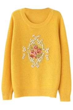 #Beaded Faux #Pearl #Sweater - OASAP.com LABOR DAY SALE EVENT up to 90 OFF. 21% Off Coupon: Labor2014