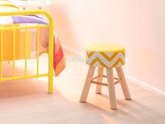 Mocka Gloria Footstool - yellow