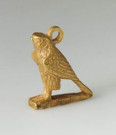 Amulet of a falcon      Nubian, Napatan Period, reign of Taharqa, 690–664 B.C.