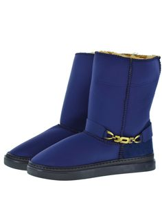 Scuba Neoprene Fabric Everest Air winter boots. Model style: Neo-Navy Bella