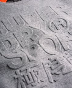 Superdry Gym Tech Embossed Crew Sweatshirt Grey