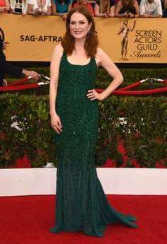 """Still Alice"" star Julianne Moore emerged as one of the best-dressed stars of the night at the 21st ... - Jordan Strauss/Invision/AP"