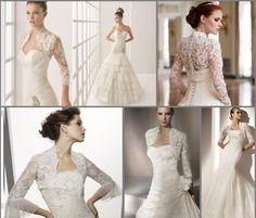 Vestido de Noiva Com Bolero de Renda 2012