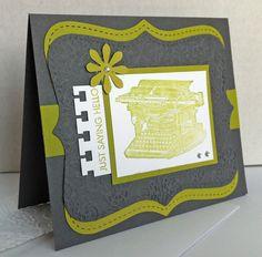 Just saying hello ... Stampin' Up! stamp set: Established Elegance