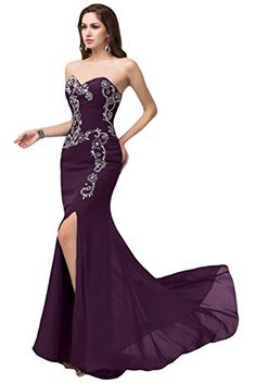 Sunvary Sexy Front Split Mermaid Evening Gowns for Prom Chiffon - US Size 2- Grape Sunvary http://www.amazon.com/dp/B00R5N5GOK/ref=cm_sw_r_pi_dp_IyPpvb14XKW0Z