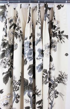 Chintz Fabric, Grisaille, Custom Drapes, Elements Of Style, Window Coverings, Window Treatments, Hollyhock, Box Pleats, Schumacher