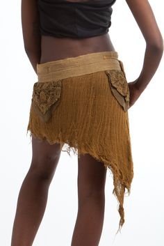 Gauze wrap with crochet pockets  £31.99 by GEKKO BOHOTIQUE  Goa Trance,Steampunk,Psytrance,Hippie,Boho,Tribal festival clothing. Pocket belts, hats and wrists Warmers.Come visit our shops in Camden and Greenwich Markets