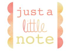 Just a little note free card printable