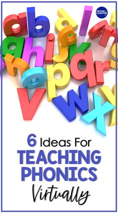 Teaching phonics virtually can be tricky. Students need to see our mouths up close to learn how to make sounds. Here are six ideas for teaching phonics virtually with tips for how to teach sounds and model skills over Zoom. I've included helpful videos that show mouth movements for each vowel sound. Phonics Videos, Phonics Lessons, Phonics Words, Grammar Activities, Word Work Activities, Kids Learning Activities, Classroom Activities, Fun Learning, Teaching Letter Sounds