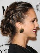 Jessica Alba Hairstyles: Elegant Messy Retro-inspired Updo