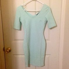 *NEW* Mint Green Bodycon Dress New! Never worn. Size small. Mint green. Has a texture as can be seen in the photos. Will look similar to dress on model but they're not the same exact dress. Forever 21 Dresses