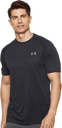 Amazon.com: Under Armour Men's Tech 2.0 Short-Sleeve T-Shirt , Black (001)/Graphite , Large: Clothing Armor Shirt, Cheap Clothing Websites, Sun Shirt, Under Armour Men, Shirt Price, Sport T Shirt, Tshirts Online, Short Sleeve Tee, Cool Shirts