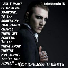 Motionless In White Immaculate Misconception MIW has some of the most honest truthful lyrics thats why i lovee them!