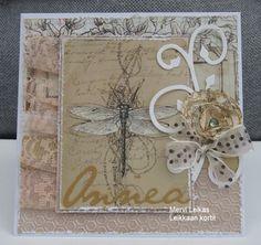 Leikkaan kortit : Dragonfly & Vintage