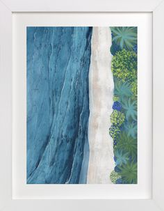 """""""Indigo Sea"""" - Art Print by Denise Wong in beautiful frame options and a variety of sizes."""