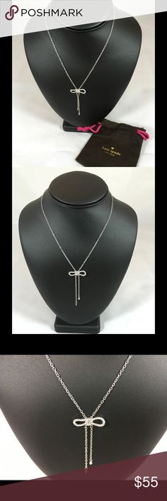 """NWT Kate Spade Dainty Sparklers Bow Necklace Length - 17 a 20"""" adjustable, Clasp - Lobster Claw kate spade Jewelry Necklaces"""