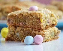 Cadbury Mini Egg Blondie Bars -- What to do with those leftover Easter candies!