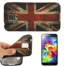 TPU Case Cover fürs Samsung Galaxy S5 i9600 Retro England Flag