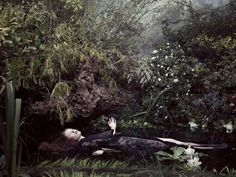 """Ophelia Has a Dream"": A short film by MIHARAYASUHIRO, Paolo Roversi, and Studio WOW that was inspired by John Everett Millais' painting Ophelia and depicts the tragic last moments of Shakespeare's heroine amidst a shroud of butterflies and flower petals Paolo Roversi, Ophelia Painting, John Everett Millais, Tate Britain, Pre Raphaelite, Romanticism, Les Oeuvres, The Dreamers, Fairy Tales"